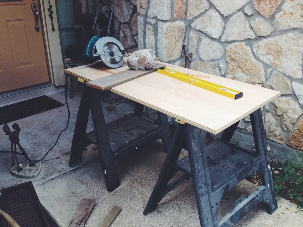 preparing to build a shelf