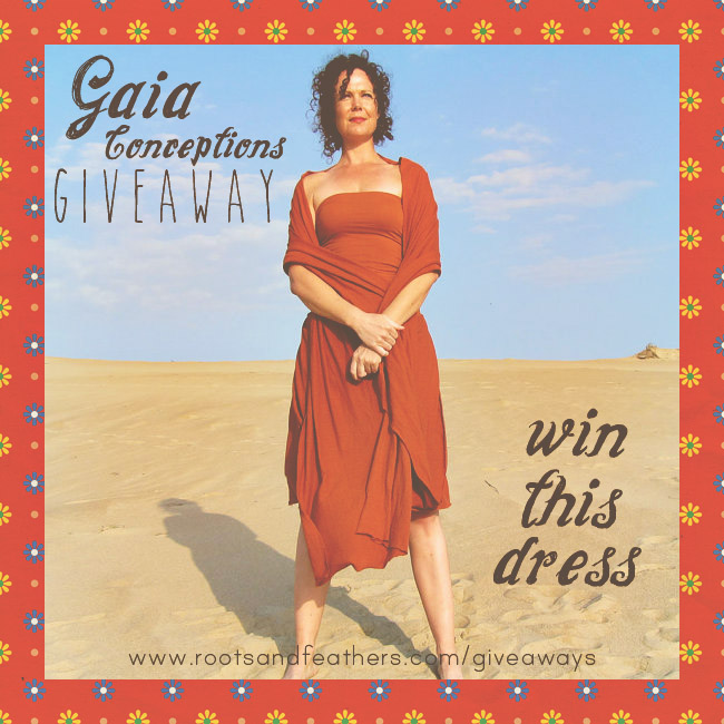 Gaia Conceptions Dress Giveaway via rootsandfeathers.com/giveaways
