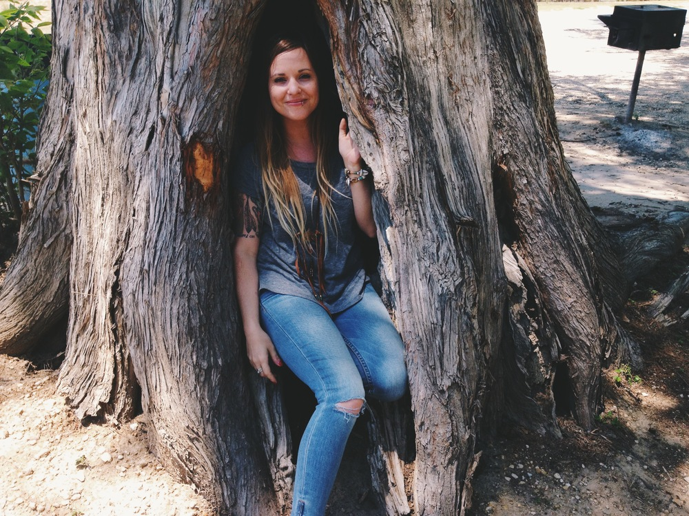 Laura in a tree