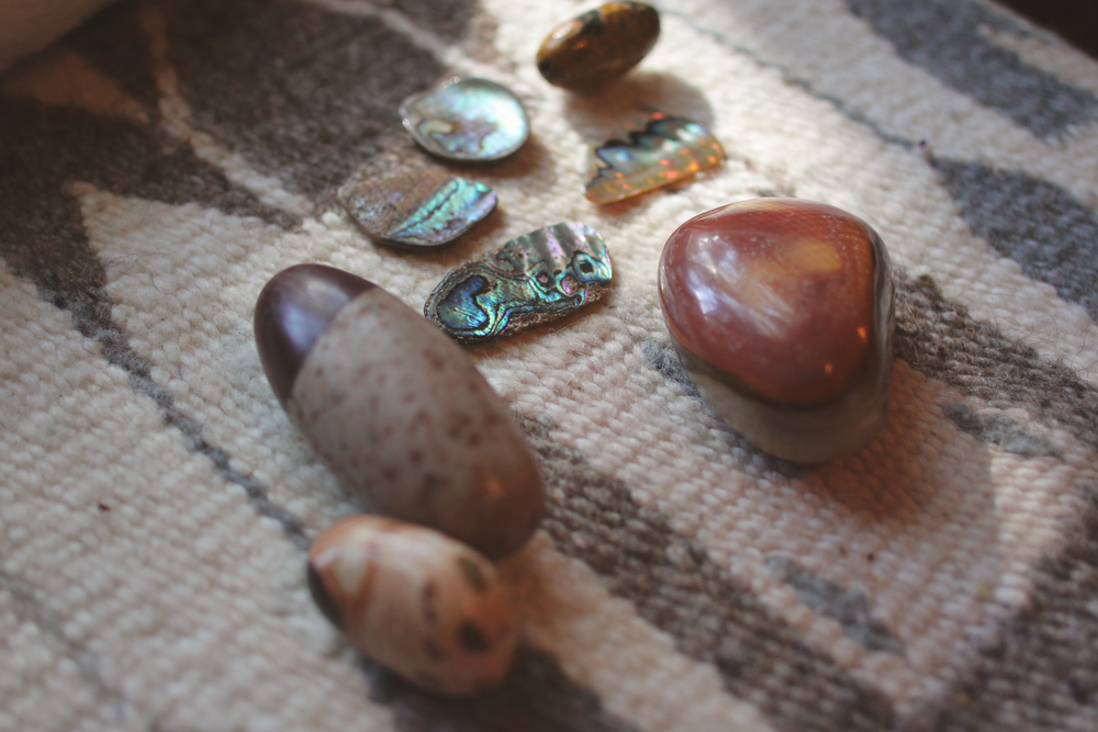 stones and abalone