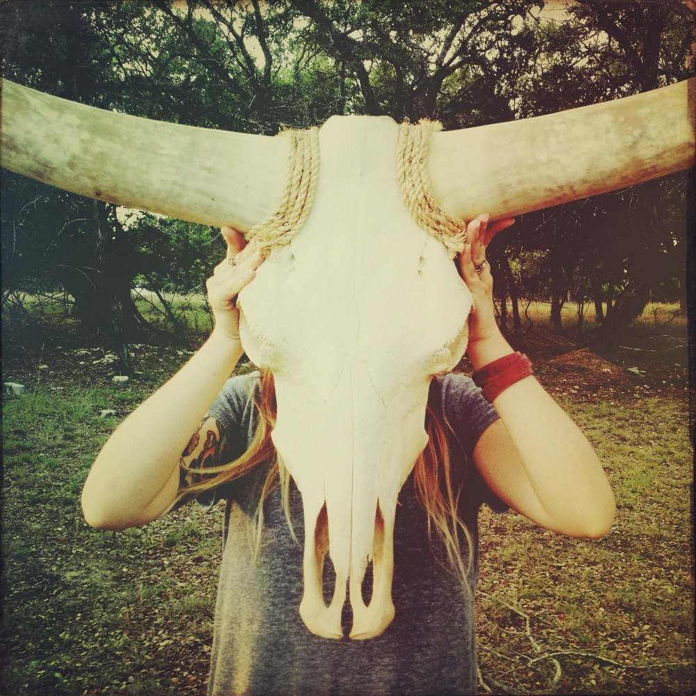 July 2013.  We found Delilah, our longhorn skull.