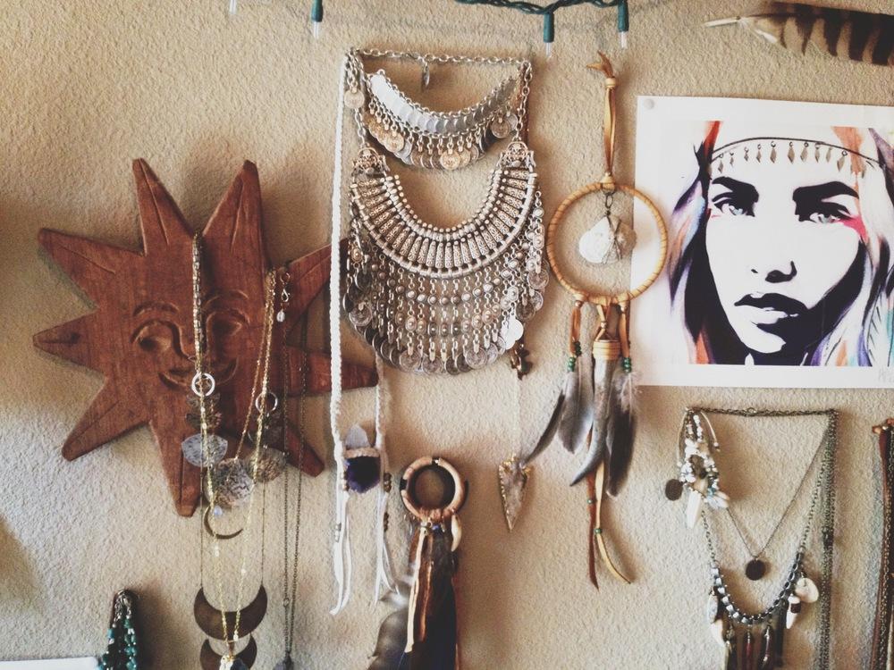A peek into my jewelry wall...