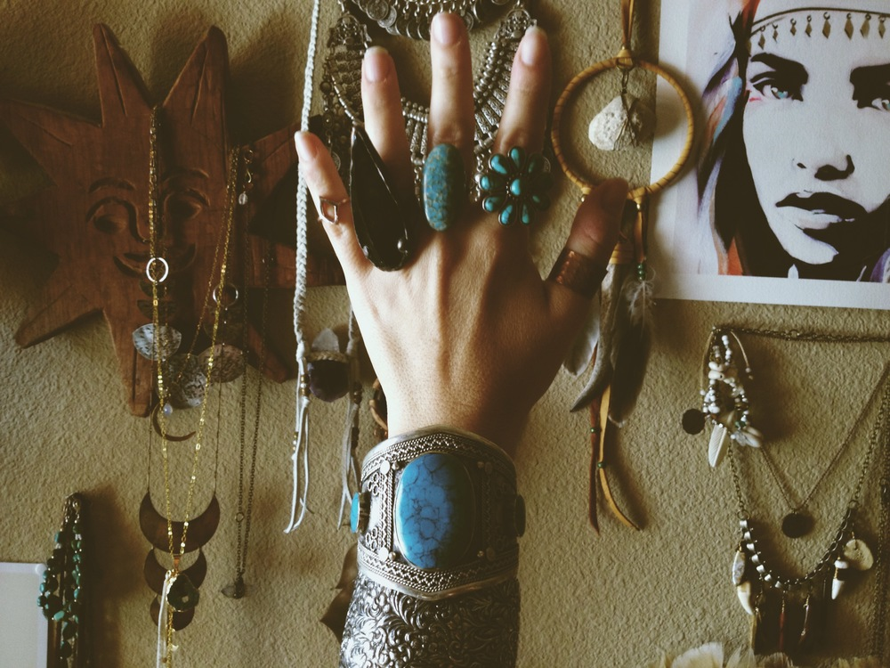 Hand clutter.  There is a giveaway going on for that black arrowhead ring on my instagram right now!!!
