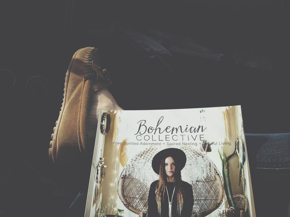 Since I got my preview copy of the  Bohemian Collective Magazine  in my hands Ive been taking it everywhere with me.  Just to hold, and browse, over and over and over.  I hope I don't get sick of it before its even released, ha ha!