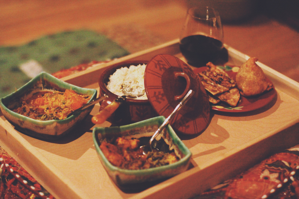 Indian Dinner Date via rootsandfeathers.com