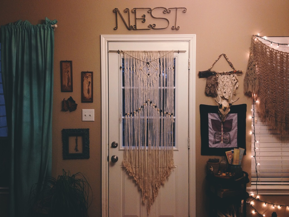 Macrame Wall Hanging (on my door) by  Pretty Kooky .