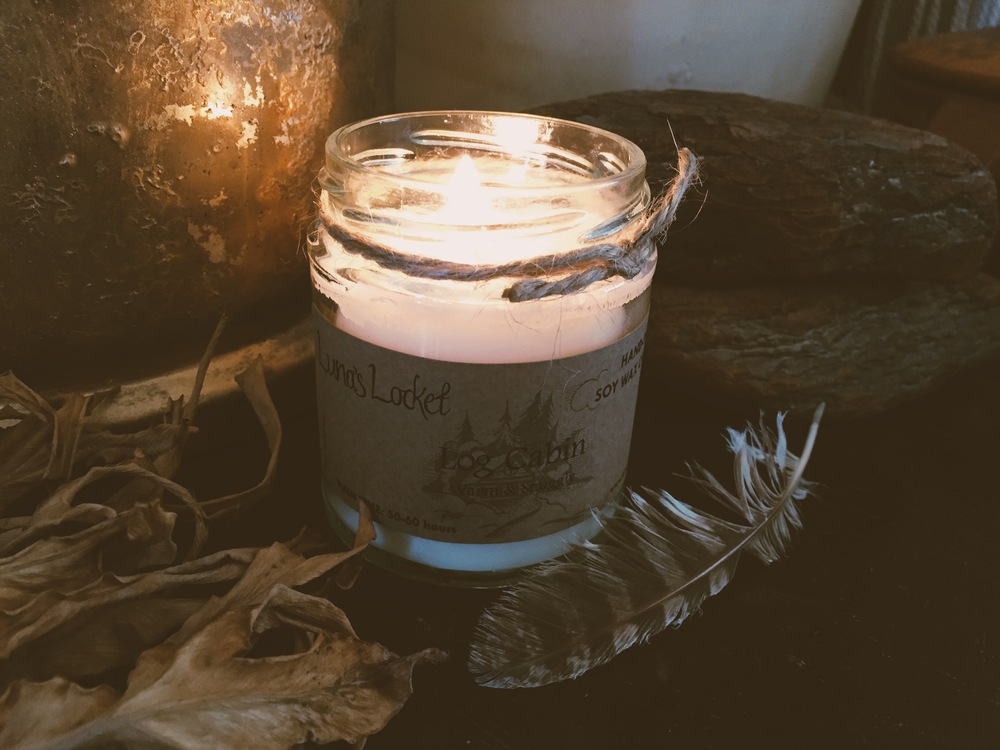Luna's Locket Log Cabin Candle