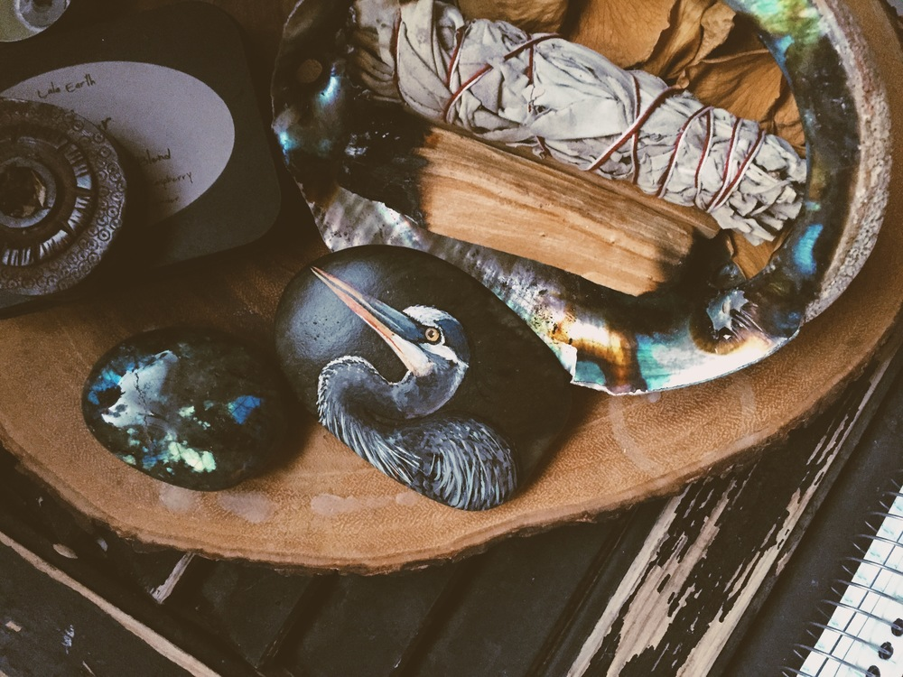 Sacred Bath Space - Painted Stone by Lotus & Nightshade + other special items