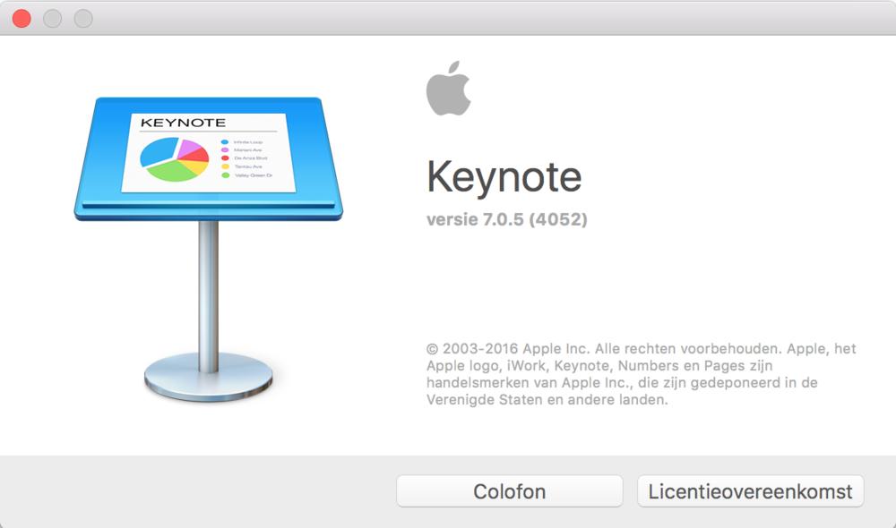 MacOs Keynote 7