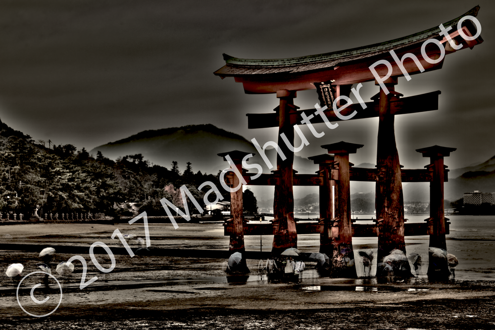 awakening phase 1, realization.   the world is different.  but i am the same.  i am the same as i was yesterday and yesteryear.  it is time for change.   floating by the gate .  December, 2015 | itsukushima | japan