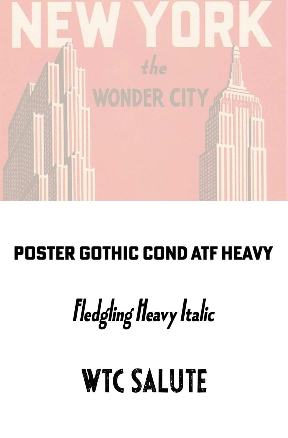 NEW YORK the WONDER CITY | Typography Analysis