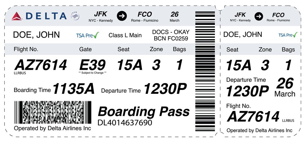 Airline Boarding Pass Redesign