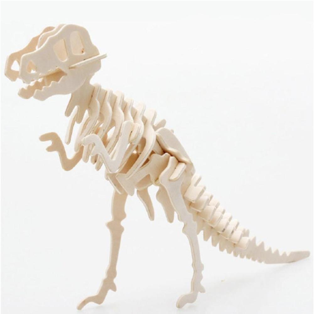 3D wooden t-rex puzzle