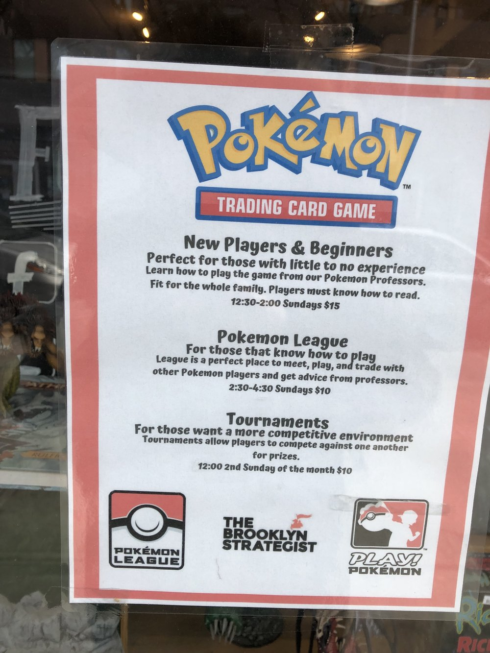 Advertisement outside of The Brooklyn Strategist