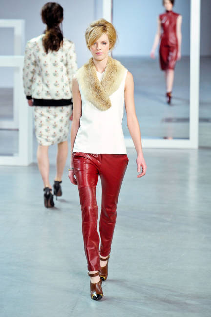 Derek Lam, fall 2012, Red Leather.  www.elle.com