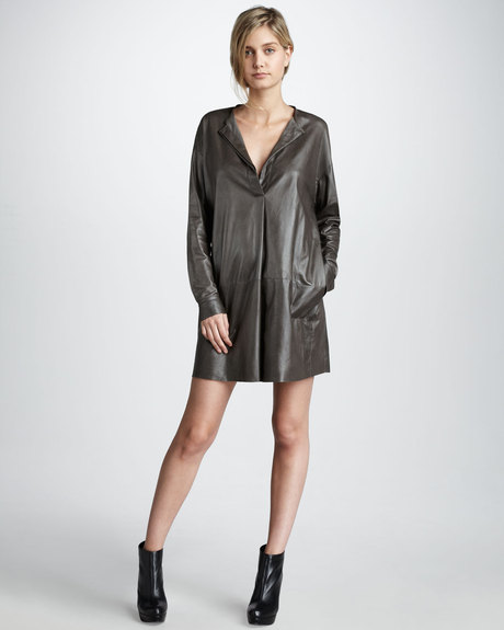 The Vince silver leather dress