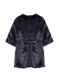 Collarless faux fur coat, BSB fashion