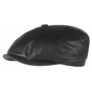 Hatteras chevrette leather cap by Stetson