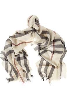Merino wool & cashmere-blend scarf, Burberry
