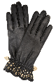 Moschino accessories, frill studded cashmere lined gloves