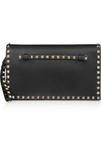 Valentino, the rockstud leather clutch