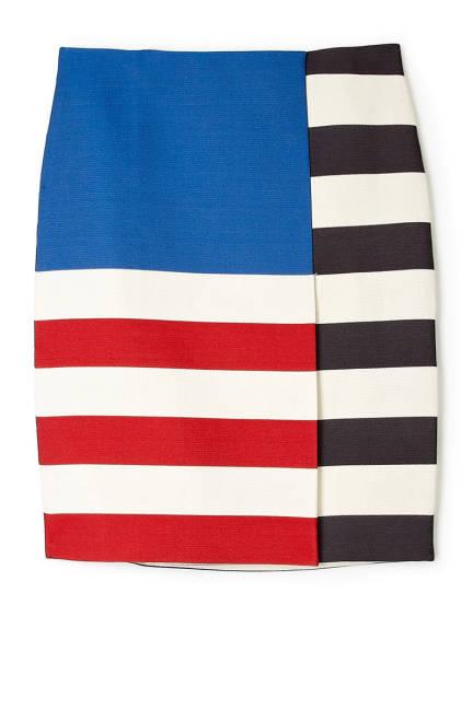 Acne- Layla, Flag- color block skirt