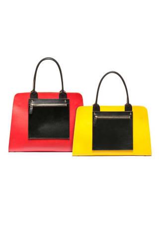 Marni, color block shopping bags