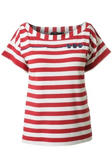 Raxevsky, Nautique red striped top