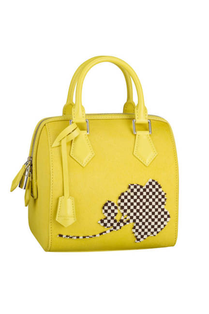 Louis Vuitton, yellow fleur cube