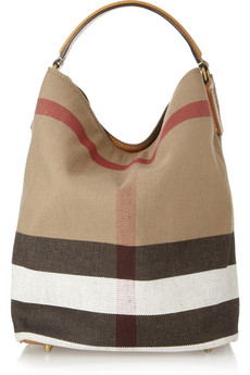 Burberry Shoes & Accessories Susanna checked canvas hobo bag