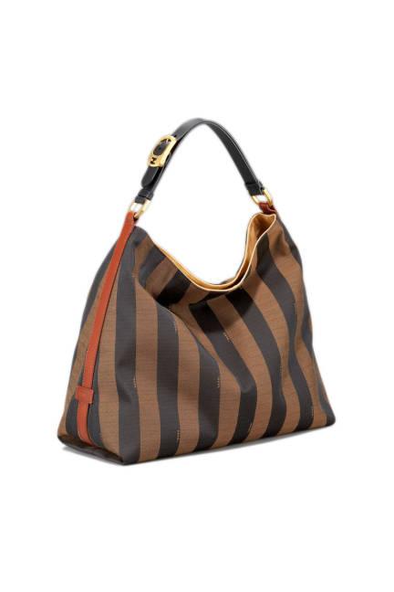 Fendi Pequin tonal stripe hobo bag