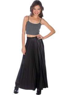Maxi plisse leather look skirt, BSB