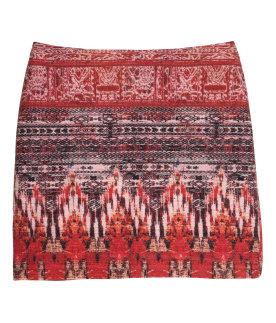 Patterned skirt, H&M