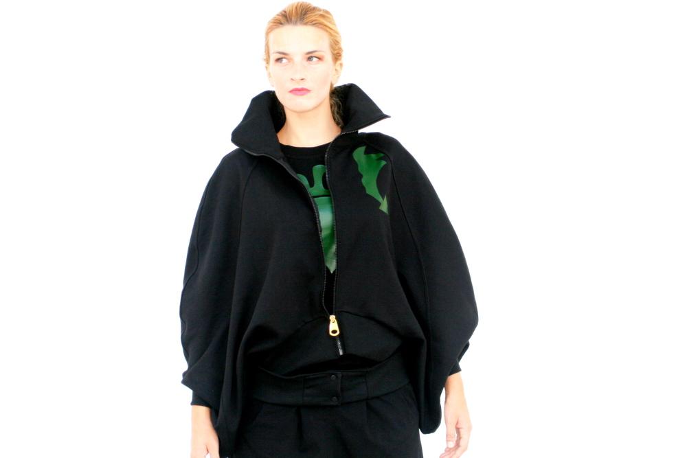 Black Wing Suit Jacket Green Arrows