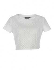 Κοντό τρυπητό μπλουζάκι  39,90€