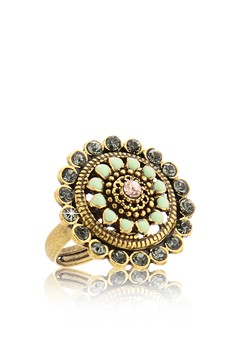 VINCENT FILAC  CONSTANTINE Mint Crystal Ring