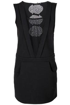 C BLOCK  BASILIA Black Cocktail Dress