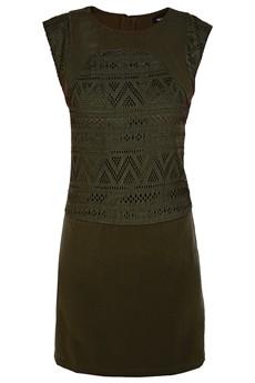 C BLOCK  FELICIA Khaki Cut Out Dress