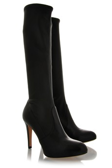 GIANVITO ROSSI SWENIE Black Leather Knee-High Boots