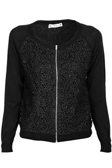 MISTY INTERDEE ARIADNA Black Lace Cardigan