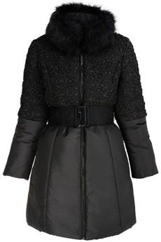 RENÉ DERHY ELLISET Black Fur Puffa Jacket