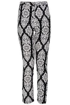LUCY PARIS SILA Black White Printed Pants