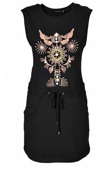 C BLOCK VANITY Black Embellished Dress