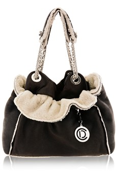 DIOR  CANNAGE AGNEAU Brown Leather Bag