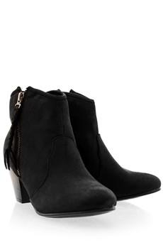 TIMELESS MELI Black Side Zip Cowboy Boots