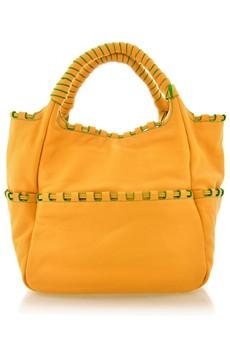 ORYANY ALSTON Yellow Leather Tote