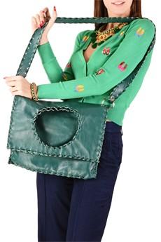 ELEANNA KATSIRA KERIN Green Leather Crossbody Bag