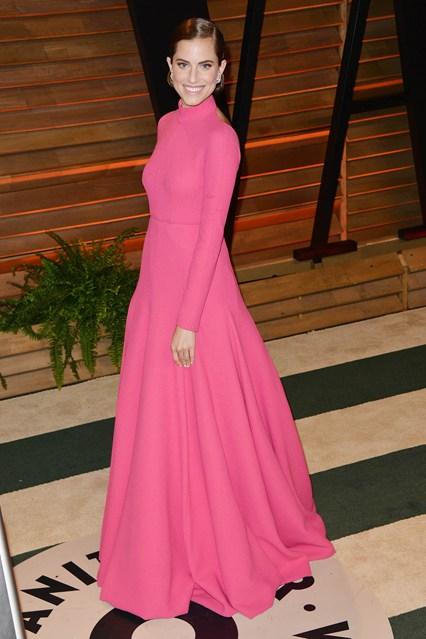 Allison Williams in an Emilia Wickstead gown