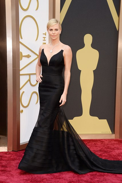 Charlize Theron in Dior gown