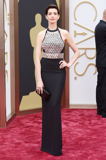 Anne Hathaway in a Gucci gown